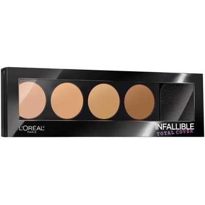 L'Oreal Infallible Total Cover Concealing and Contour Kit - палитра консилеров и контуров