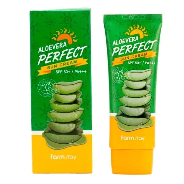 FARM STAY Alovera Perfect Sun Cream SPF50+/PA+++