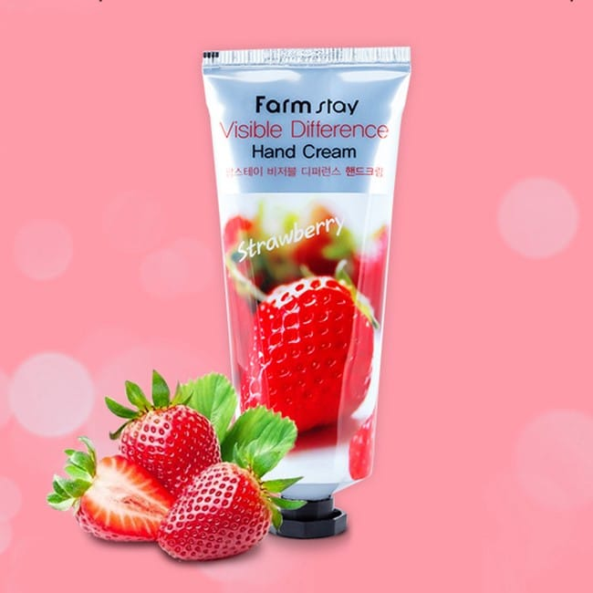 FARMSTAY Visible Difference Hand Cream (100ml)-Strawberry